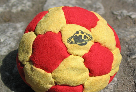 an introduction to the game of hackysac or footbag Footbag is the true name of the sport, and hacky sack comes from the brand name given to one type of footbag it happened to be the first type of footbag, so the name stuck one of the more common games is red dot.